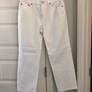 Nwot j crew wide leg crop jeans 29 white